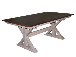X-Base Double Pedestal Table