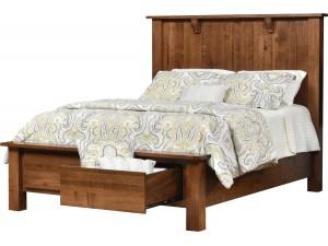 Miles Queen Storage Panel Bed